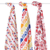 Aden + Anais (PRODUCT)RED Special Edition Organic Swaddles, 3 pk (Limited Edition)