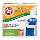Munchkin Arm & Hammer™ Diaper Pail Bag Refills, 20 pk