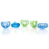 GumDrop Newborn Pacifiers, 0 - 3 m, 5-pk Blue/Green
