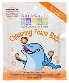 Aura Cacia Aromatherapy Foam Bath for Kids, Cheering, 2.5 oz. Packet