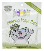 Aura Cacia Aromatherapy Foam Bath for Kids, Clearing, 2.5 oz. Packet
