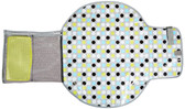 The First Years  Deluxe Fold and Go Diapering Kit, Gray/ Multi Dot