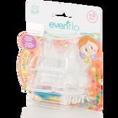 Evenflo Feeding Distroller Slicone Anatomic Nipple with Brush 4-Pack