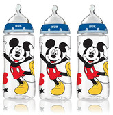 NUK Disney Orthodontic Bottles, 3 pk, Mickey Mouse and Minnie Mouse