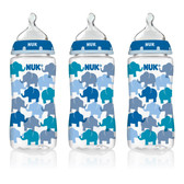 NUK Fashion Orthodontic Bottles, 3 pk, 10 oz (More Colors)