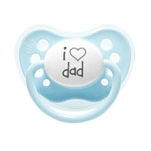 Little Mico Orthodontic Personalized Pacifier, I Love Dad, 1pk