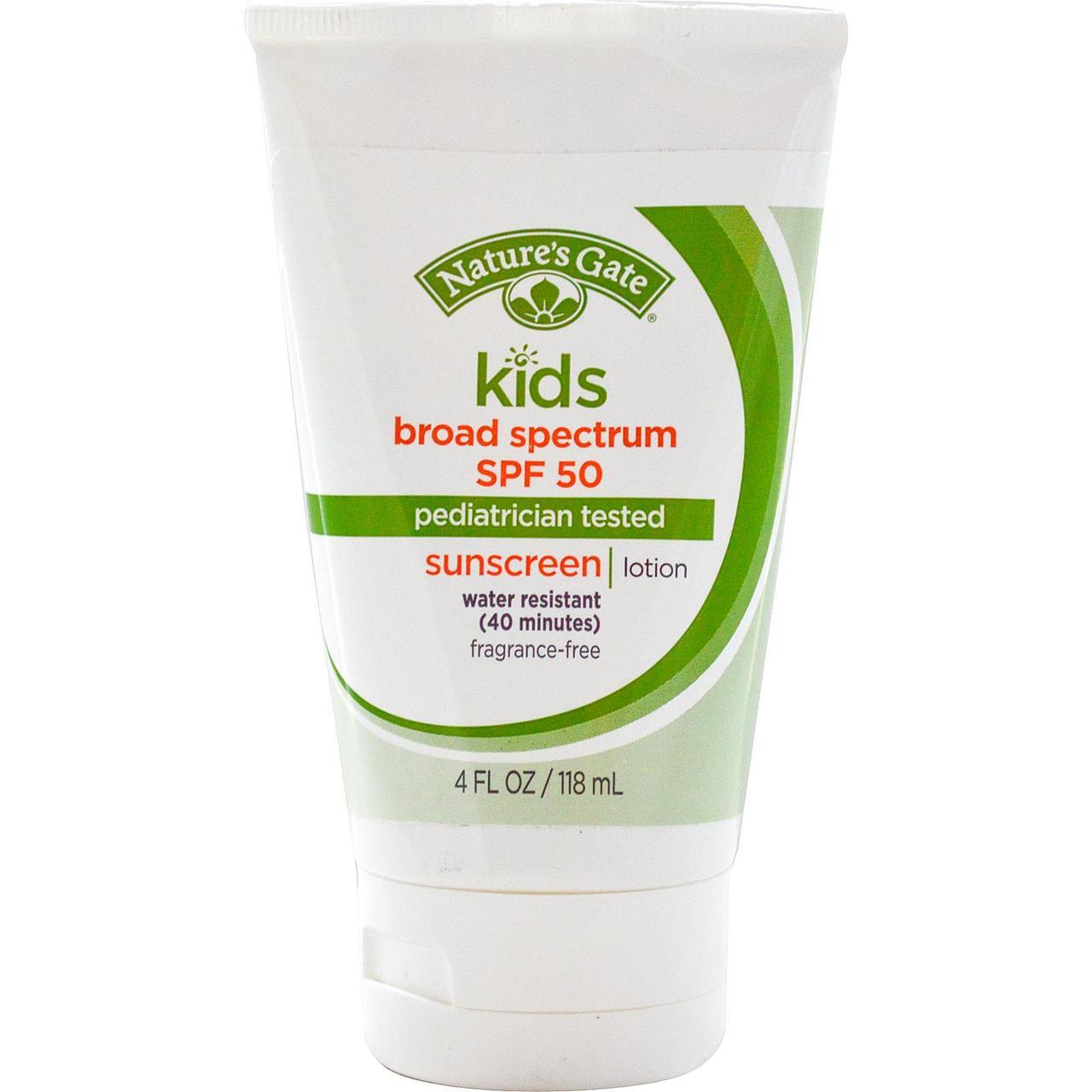 Nature S Gate Mineral Kids Broad Spectrum Spf  Sunscreen