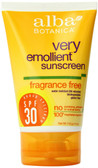 Alba Botanica Fragrance Free Sunscreen, Water Resistant, SPF 30, 4 fl. oz.
