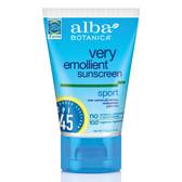 Alba Botanica Sport Sunscreen, Water Resistant, SPF 45, 4 fl. oz.