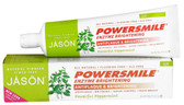 Jason PowerSmile Enzyme Brightening Toothpaste Gel, Fluoride Free, Powerful Peppermint, 4.2 oz.