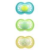 MAM  NIGHT & DAY Silicone Pacifiers 6+ m, 3 pk