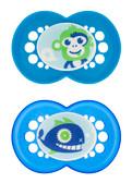 MAM Cartoon Orthodontic Silicone Pacifiers 6+ m, 2 pk Boy
