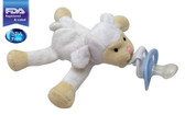 CuddlesMe Plush Sheep/LambToy with Detachable Pacifier