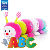 CuddlesMe Pacifier with Detachable Learning Caterpillar ABC