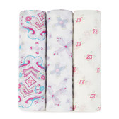 Aden + Anais Bamboo Swaddles 3 pk, Flower Child