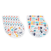 Aden + Anais Zutano Classic Burpy Bibs 2-Pack, Pup In Tow