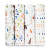 Aden + Anais Classic Swaddles 4-Pack, Paper Tales