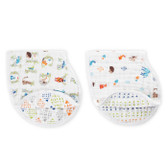 Aden + Anais Classic Burpy Bibs 2-Pack, Paper Tales