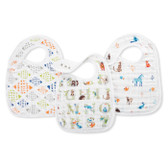 Aden + Anais Classic Snap Bibs 3-Pack, Paper Tales