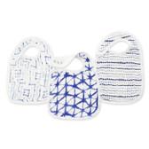 Aden + Anais Silky Soft Bamboo Snap Bibs 3-Pack, Indigo
