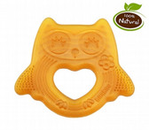 Haakaa Happy Owl Natural Rubber Teether, 1 pk