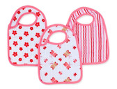 Aden + Anais Classic Snap Bibs 3-Pack, Princess Posie