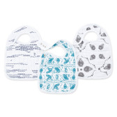 Aden + Anais Classic Snap Bibs 3-Pack, Kindred