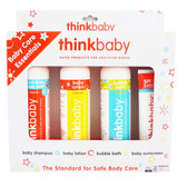thinkbaby Baby Care Essentials Shampoo/Lotion/Bubble Bath/Sunscreen Set