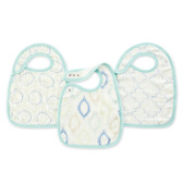 Aden + Anais Silky Soft Bamboo Snap Bibs 3-Pack, Sprout