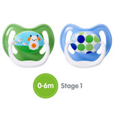 Dr Brown's PreVent Silicone Pacifiers 0-6 m, 2 pk, Boy