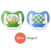 Dr Brown's PreVent Silicone Pacifiers 12+ m, 2 pk, Boy