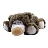 Intelex Warmies Cozy Plush Microwavable Warmer, Brown Sleepy Bear