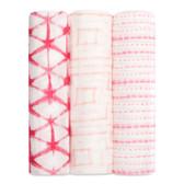 Aden + Anais Silky Soft Bamboo Swaddles 3 pk, Berry Shibori