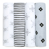 Aden + Anais Classic Swaddles 4-Pack, lovestruck