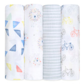 Aden + Anais Classic Swaddles 4-Pack, Leader of the Pack