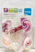 MAM Stripes Orthodontic Silicone Pacifiers, 2+ m Value Pack Pink