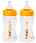 thinkbaby Plastic Bottles, 9 oz, 2 pk, BPA Free