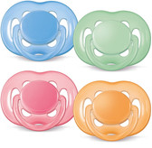 AVENT Silicone Freeflow Pacifiers, 6-18 m, 2 pk, BPA Free