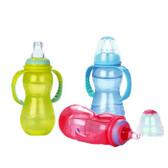 Nuby 3 Stage Standard Non-Drip Bottle, 11 oz, 1 pk, BPA Free