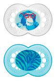 MAM Animal Orthodontic Silicone Pacifiers 6+ m, 2 pk, Gorilla