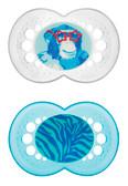 MAM Animal Orthodontic Silicone Pacifiers 6+ m, 2 pk, Gorilla