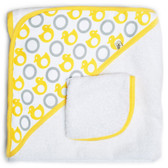 JJ Cole Hooded Towel Set, Yellow Duck