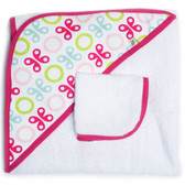 JJ Cole Hooded Towel Set, Pink Butterfly