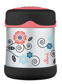 Thermos Foogo Stainless Steel Food Jar, 10 oz, Poppy Patch