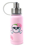 Eco Vessel Twist Triple Insulated Kids Stainless Steel Water Bottle, 13 oz, Pink Skull