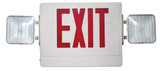 Combination Emergency & Exit Light Red