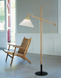 Le Klint  325 Floor Lamp Made in Denmark and Designed by Vilh. Wohlert