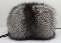 Real Silver fox hand muff