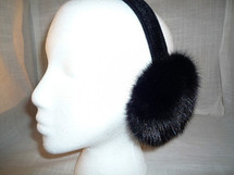 Real black mink earmuffs