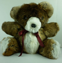 Real Rex Rabbit  Fur Teddy Bear New made in usa